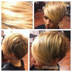 VAALEAT LYHYET HIUKSET: Lyhyet hiukset vaalealla otsatukalla....