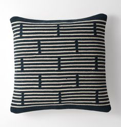 Woven Mohair Broken Stripe Pillow Cover - | Rejuvenation
