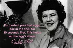 8 cooking tips from Julia Child. I need to break out my Julia cookbook. Perhaps this weekend?