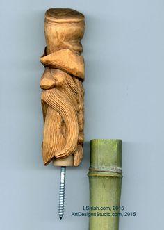 Wood Spirit Carving, 13 Defining the Beard – Classic Carving Patterns Simple Wood Carving, Wood Carving Tools, Custom Branding Iron, Driftwood Art, Whittling, Vikings, Spirit, Pottery, Classic