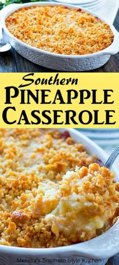 Pineapple Casserole - The Slow Roasted Italian - Pineapple Casserole Pineapple Casserole - Polenta Pizza, Best Nutrition Food, Health And Nutrition, Health Tips, Nutrition Products, Health Care, Pot Luck, Paula Deen, Pineapple Cheese Casserole
