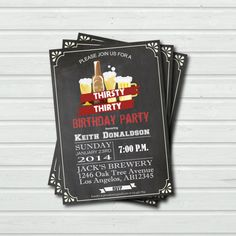 Items similar to Beer Bash Invite (Set of Men's Birthday, Birthday, Husband's Birthday, Adult Party on Etsy Surprise 30th Birthday, Thirty Birthday, 40th Birthday, Birthday Parties, Birthday Ideas, 30th Party, 30th Birthday Invitations, Party Invitations, Invite