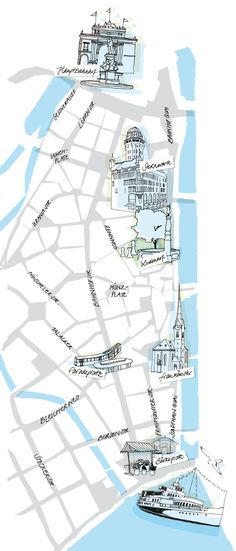this lovely map of a section of the city illustrated by Anja Denz - an illustrator and designer based in Zurich.