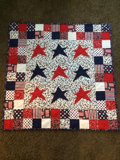Paper pieced star quilt I made