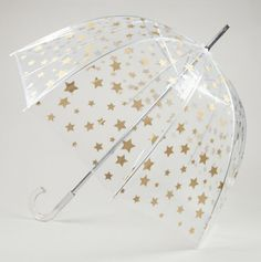 Star Print Clear Bubble Umbrella