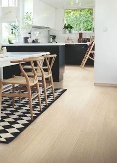 Wishbone Chair, Danish Modern, Laminate Flooring, Plank, Sweet Home, Dining Room, House Styles, Kitchen, Furniture