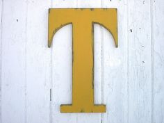 Shabby chic Rustic Wooden Letters T 18 Dorm Large by LettersofWood, $42.00