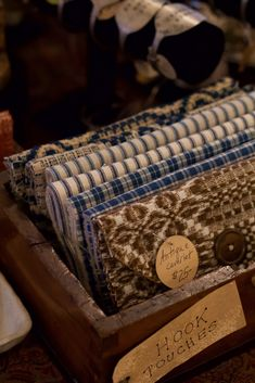 Hand stitched hook pouches of early textiles by Lauren Fuqua - See more on November 9th 2019  - Peninsula, Ohio -  From Our Hands folk art and antique show! November 9th, Antique Show, Heart Hands, Country Decor, Pouches, Hand Stitching, Folk Art, Ohio, Stitches