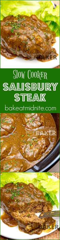 "Salisbury steak is a great American comfort food and it cooks low and slow in your crock pot. The family will love this and so will you! Salisbury Steak: Easy And Comforting When I think ""comfort food,"" salisbury steak is always in that list. It's pretty easy to make and it's inexpensive too. Hence, it's...Read More »"