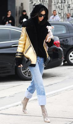 See how celebrities are staying warm this winter thanks to their genius new layering technique.