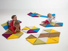 {ZIP rugs} modular rugs inspired by origami - endless possibilities!