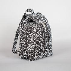 Baggu Canvas Backpack, Black Static.