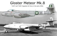 Gloster Meteor Mk.8 Gloster Meteor, Aircraft Painting, Royal Air Force, Aviation Art, Pictures To Draw, Military Aircraft, Great Britain, Wwii, Fighter Jets