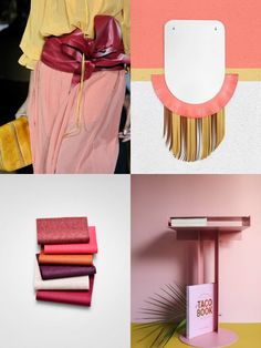 This weekend Moodboard is all about yellow+pink+red and pops of orange #MyWeekendMoodboard #moodboard