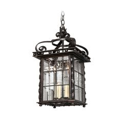 A Square Swedish Iron Lantern | From a unique collection of antique and modern lanterns at http://www.1stdibs.com/furniture/lighting/lanterns/