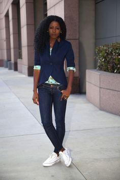 Style Pantry - http://stylepantry.com/2014/03/31/elbow-patch-blazer-plaid-shirt-dark-skinnies/