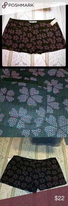 "NWT RACHEL ROY FLORAL DRESS SHORTS 14 My pics don't do these justice  Super cute navy blue knit dress shorts.  Pink and blue knit flowers Front and back pockets Lightweight  Size 14 19"" across waist RACHEL Rachel Roy Shorts"