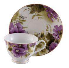 Pansy Joy Teacups Set of 6 includes 6 Tea Cups & 6 Saucers - Discount Tea Cups - Roses And Teacups Vintage Dishes, Vintage Tea, Vintage China, Teapots And Cups, Teacups, China Tea Cups, My Cup Of Tea, Chocolate Pots, Tea Cup Saucer