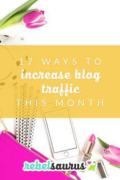 If you've recently started a blog or your blog hasn't gotten traction yet, here are 17 ways to increase blog traffic this month that I've used in my own blogs so I know can work for you. I used tips like these to increase the blog traffic one of my blogs until we went from 3,000 monthly page views to 70,000 in our highest month in just a few months.