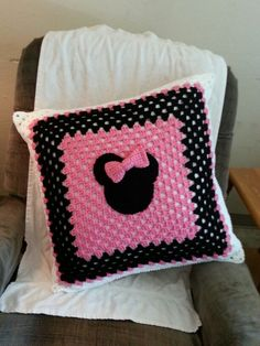 Minnie Mouse pillow modified from a blanket I saw on online.