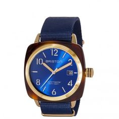Clubmaster Gold HMS tortoise shell – blue sunray dial