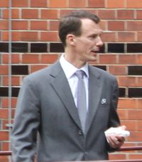 Joachim of Denmark (Born Son of Queen Margrethe II and Prince Consort Henrik. He married twice and has four children. Prince Felix, Princess Marie Of Denmark, Queen Margrethe Ii, Danish Royals, Royal Weddings, Suit Jacket, Christian, Horoscopes, Queen Elizabeth