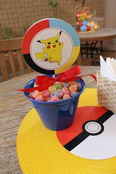 As aventuras de Ash e Pikachu foram inspirações para a decoração do Pokémon criada por Adriana Porto para os 5 anos do Luiz Neto