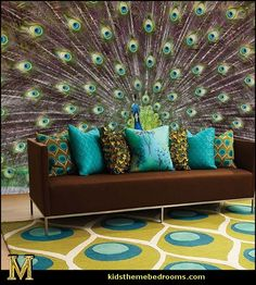 peacock bedding - peacock home decor - peacock theme decor - Peacock Decorations - Peacock Nursery - peacock wall decoration - peacock colors - peacock color decor - peacock wallpaper - Peacock curtains - life size peacock decorations - Peacock feathers - Peacock Nursery, Peacock Living Room, Peacock Bedroom, Peacock Decor, Peacock Colors, Peacock Theme, Peacock Feathers, Peacock Crafts, Peacock Curtains