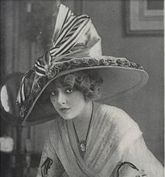 Hat by Weiss. April 1, 1911 Vogue.
