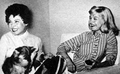 0 sandra dee with her mom and dog 1957