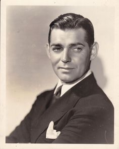 CLARK GABLE Handsome ORIGINAL Vintage 1931 MGM DBW Portrait Photo RED DUST