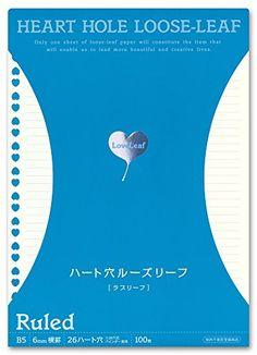 ラブリーフ ハート穴ルーズリーフ B5サイズ 6mm横罫 100枚 LLB5002 ラブリーフ(LoveLeaf) https://www.amazon.co.jp/dp/B01J1W04HQ/ref=cm_sw_r_pi_dp_x_mVbnybPHPTPZG
