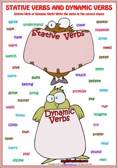 Stative Verbs or Dynamic Verbs ESL Grammar Worksheet
