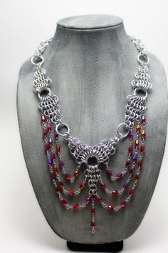 Aluminum+Chandelier+Chainmail+Necklace+with+by+EchelonsOfElliott,+$80.00