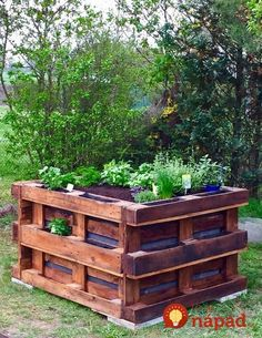 Pallet Furniture, Outdoor Furniture Sets, Outdoor Decor, Permaculture, Dream Garden, Pallet Projects, Garden Beds, Vegetable Garden, Gardening Tips
