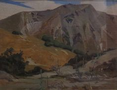 Rata Lovell-Smith painted the back-country area near Lake Selfe, pictured below).