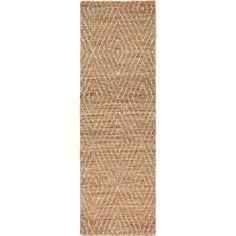 "2'6""x8' Rectangle Runner Beige - Safavieh : Target Jute Rug, Woven Rug, Entryway Runner, Nature Color Palette, Washable Rugs, Rug Material, Pattern Art, Rug Making, Rug Runner"