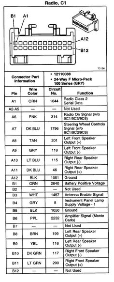 2002 Chevy Trailblazer Bose Radio Wiring Diagram. . Wiring ... on