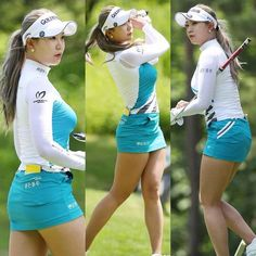 Golf Tips: Golf Clubs: Golf Gifts: Golf Swing Golf Ladies Golf Fashion Golf Rules & Etiquettes Golf Courses: Golf School: Sexy Golf, Michelle Wie, Girls Golf, Ladies Golf, Perfect Golf, Golf Fashion, Fashion 2018, Ladies Fashion, Golf Outfit