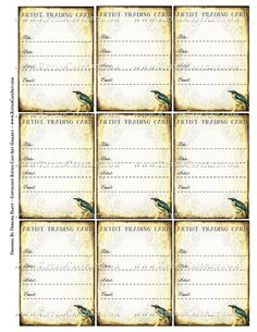 ATC Signature Backs Collage Sheet by Debrina Pratt - DP330