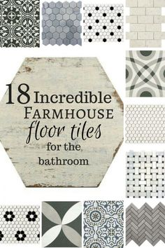 18 Incredible farmhouse floor tiles for the bathroom! Oh my! If I could have all these in my home I would! #basementdecor