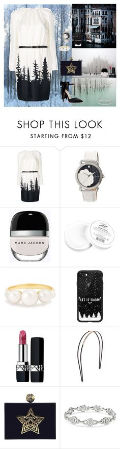 """Winter🌨"" by oksana-kolesnyk ❤ liked on Polyvore featuring Dsquared2, Disney, Bertha, Marc Jacobs, Mehron, Irene Neuwirth, Casetify, Christian Dior and Mrs. President & Co."