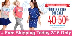 *HOT* Up to 50% Off + Free Shipping at The Children's Place (Today 2/16 Only) - See more at: https://www.freebcd.com/freebies/page/19/#sthash.pT6oooy5.dpuf