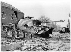 Knocked out Panther of Kampfgruppe Bayer, 116. Panzer Division