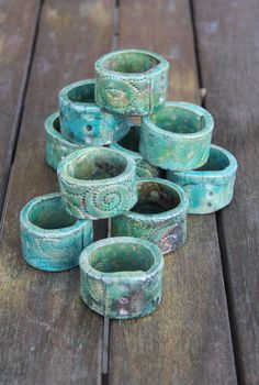 Ceramic Napkin Rings. $5.50, via Etsy.