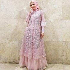 Dress Brokat Muslim, Dress Pesta, Muslim Dress, Hijab Evening Dress, Hijab Dress Party, Abaya Fashion, Muslim Fashion, Fashion Dresses, Simple Bridesmaid Dresses