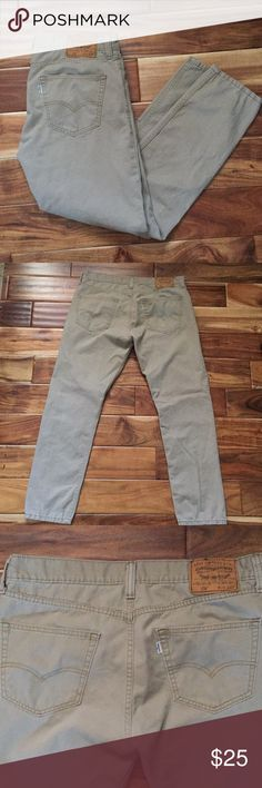 Levi Strauss & Co. Jeans Levi Strauss 508 Jeans in khakis color. Waist 34. Length 32. 100% Cotten.  Slim taper fit. Gently worn. Signature by Levi Strauss Jeans Slim Straight