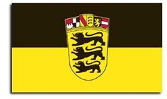 Baden Wuerttemberg - German State Flags . $13.00. 3' x 5' Polyester flag. These beautiful Baden-Wuerttemberg flags are carefully screen-printed in a full range of bright colors on 100% polyester. The authentic designs are based on information from official sources. Made with a polyester header and brass grommets on the left hand side.