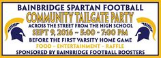 Mark your calendars for the first big TAILGATE Party of the Bainbridge (High School) Spartan Football season! Look for Dr. Brian and April Kovara!