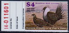Montana Department of Fish & Game. Resident Bird Stamp 1979.